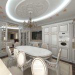 элитный дизайн кухни классический стиль