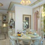 элитный дизайн кухни столовой