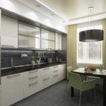 элитный дизайн кухни светлый гарнитур