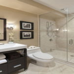 Черный и бежевый цвет для ванной