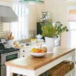 узкая кухня дизайн интерьер