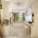 узкая кухня фото декор