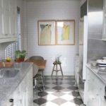 узкая кухня фото дизайн