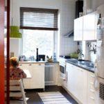 узкая кухня интерьер идеи