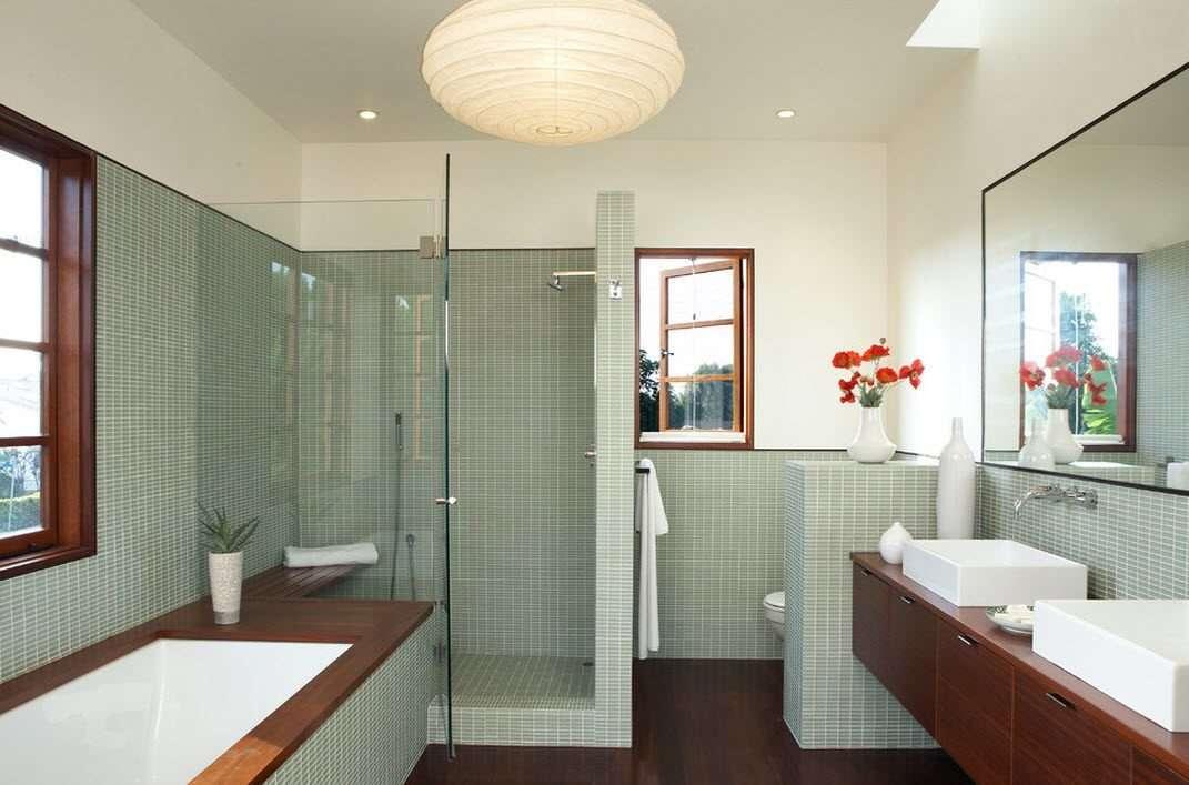 идеи для ванной с душевой кабиной