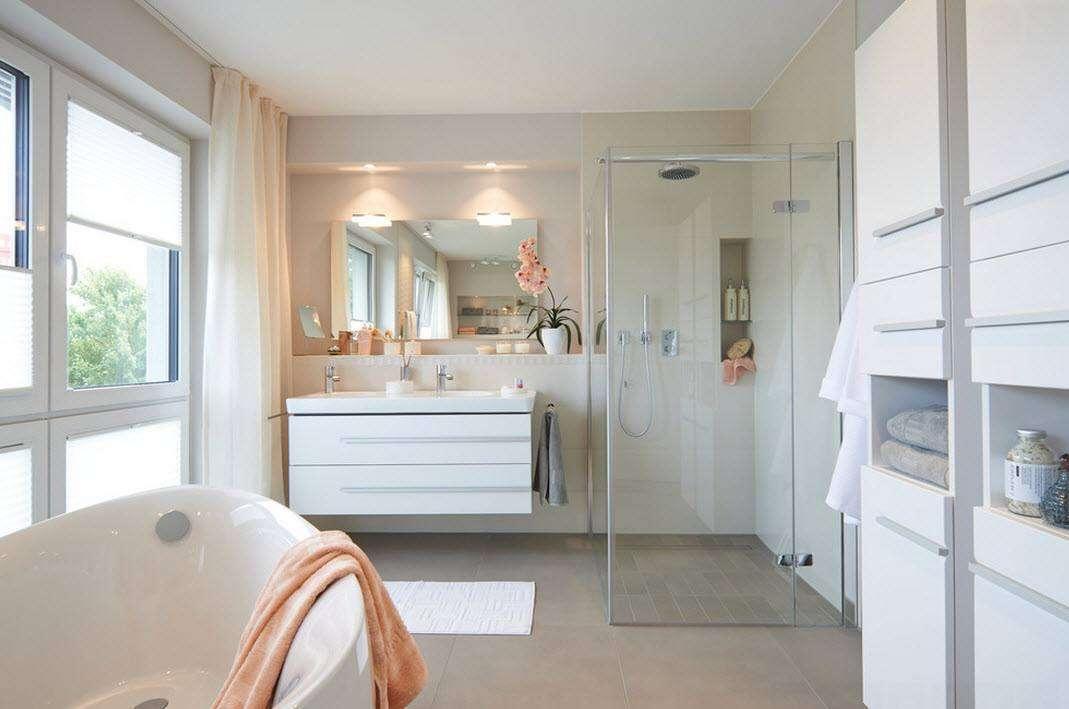 ванная с душевой кабиной фото интерьера