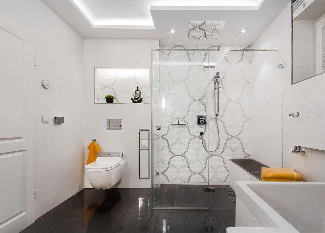 ванная с душевой кабиной идеи фото