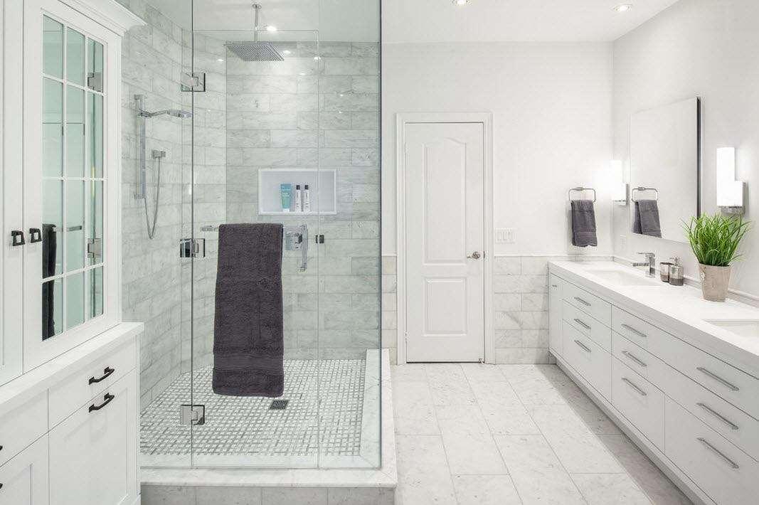 ванная с душевой кабиной идеи