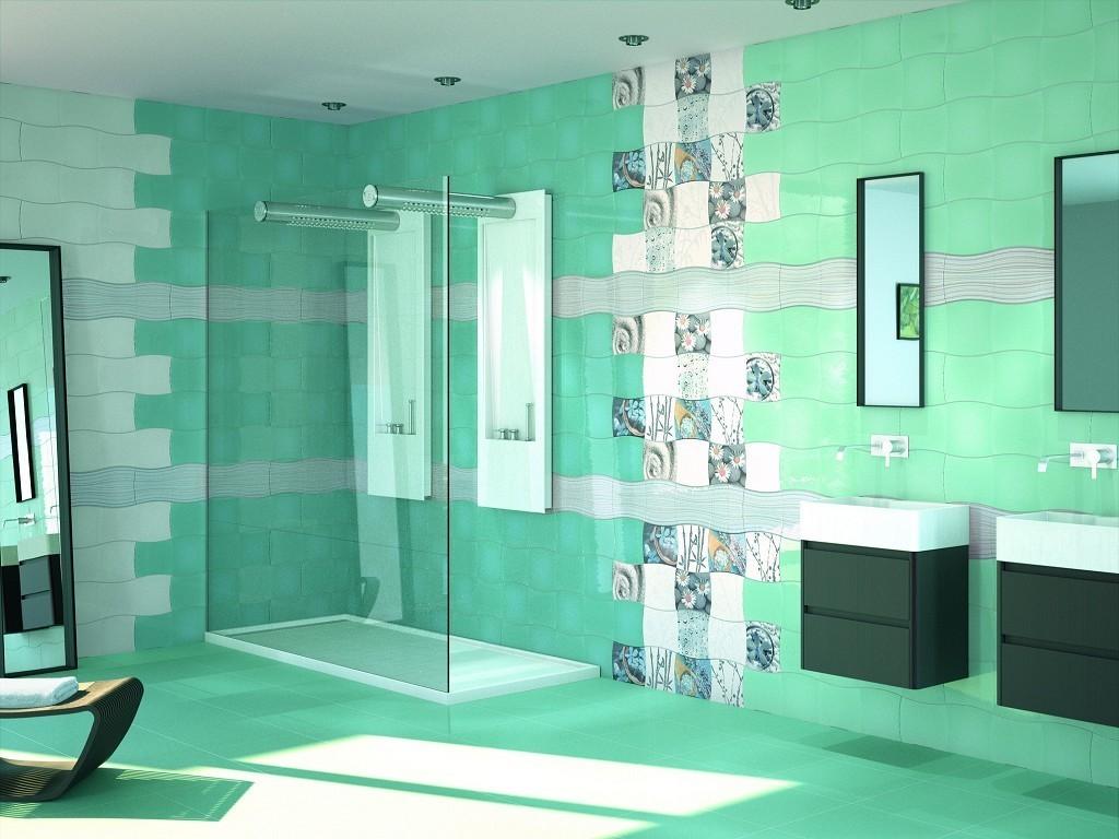 яркий дизайн плитки для ванной