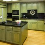 зеленая кухня дизайн интерьера