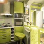 зеленая кухня идеи интерьер