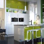 зеленая кухня интерьер