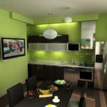 зеленая кухня оформление фото