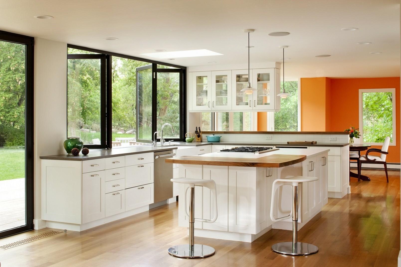 декор окна на кухне дизайн интерьер