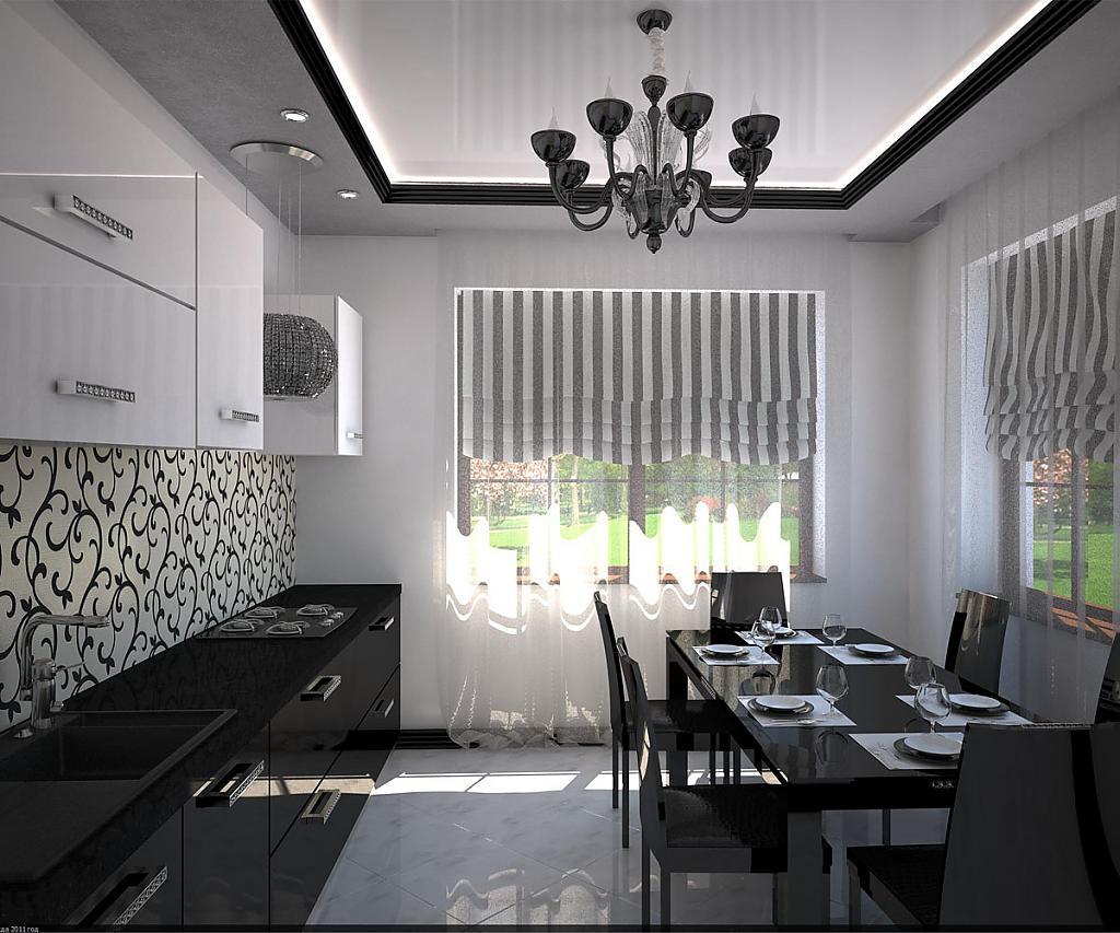 декор окна на кухне фото дизайн