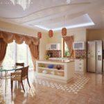 декор окна на кухне идеи интерьера
