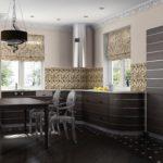 декор окна на кухне кухня венге