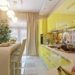 декор окна на кухне в стиле модерн