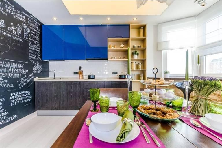 кухня гостиная с балконом