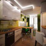 вариант светлого стиля кухни гостиной 16 кв.м картинка