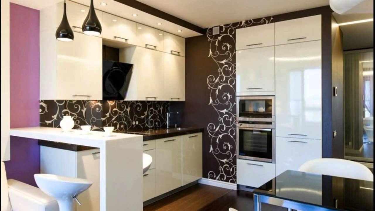 вариант необычного дизайна кухни