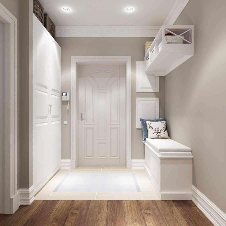 пример светлого стиля прихожей комнаты