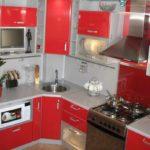 пример красивого стиля угловой кухни фото