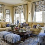 пример красивого декора прованс в гостиной фото