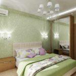 идея необычного стиля спальной комнаты фото