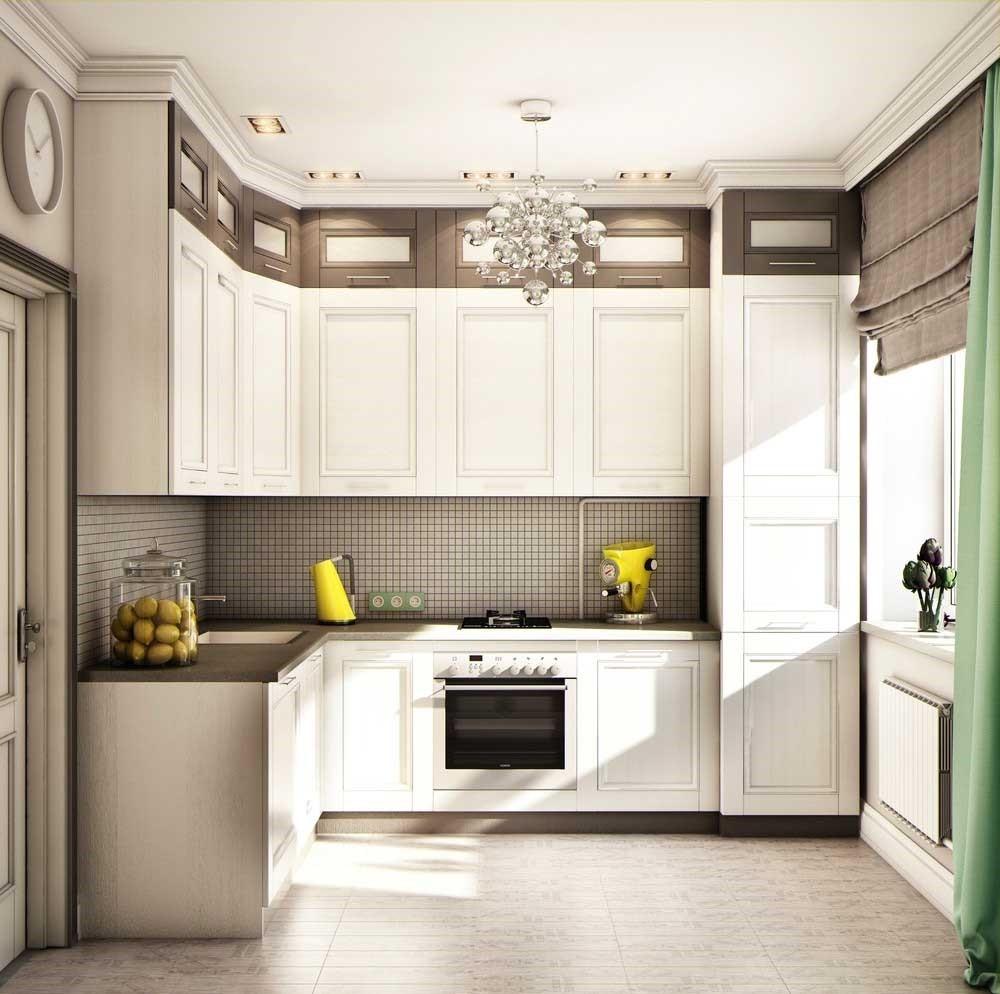 идея яркого декора угловой кухни