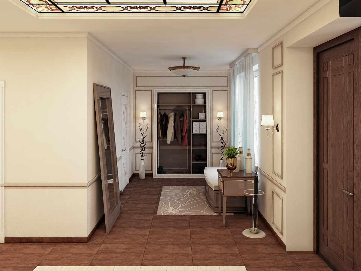 пример яркого декора прихожей комнаты в частном доме