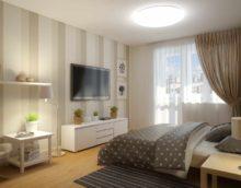 вариант яркого дизайна спальной комнаты в хрущевке картинка