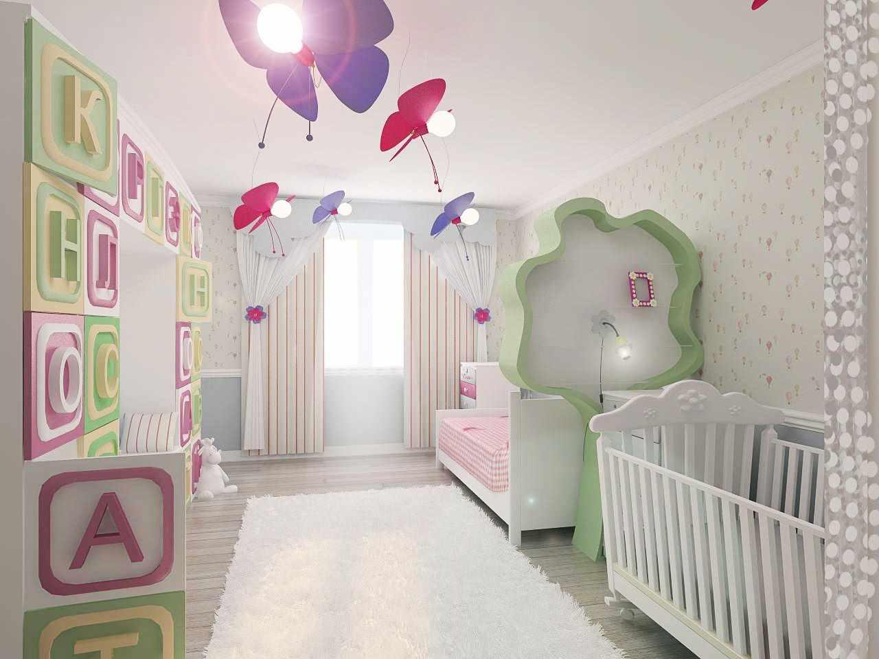 идея красивого стиля детской комнаты