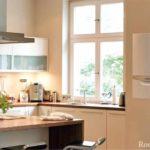 пример красивого дизайна кухни с газовым котлом картинка