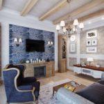 идея яркого стиля прованс в гостиной комнате фото