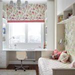 идея яркого дизайна спальной комнаты для девочки фото