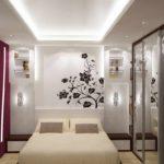 идея светлого стиля спальни в хрущевке фото