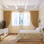 вариант красивого интерьера спальни в хрущевке фото