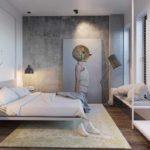 пример необычного декора спальной комнаты в хрущевке картинка