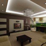 вариант красивого стиля кухни гостиной 16 кв.м фото