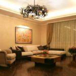 пример необычного интерьера обоев для гостиной фото