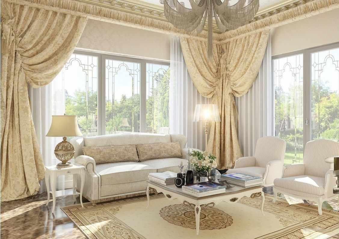 пример необычного декора прованс в гостиной комнате