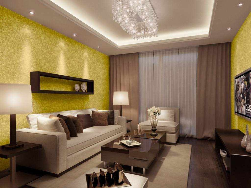 обои на стену в зал фото комбинирование коричневые тона повышает износоустойчивость ламината