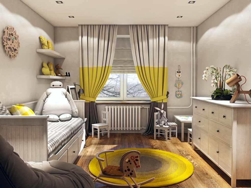 идея необычного стиля спальни в хрущевке