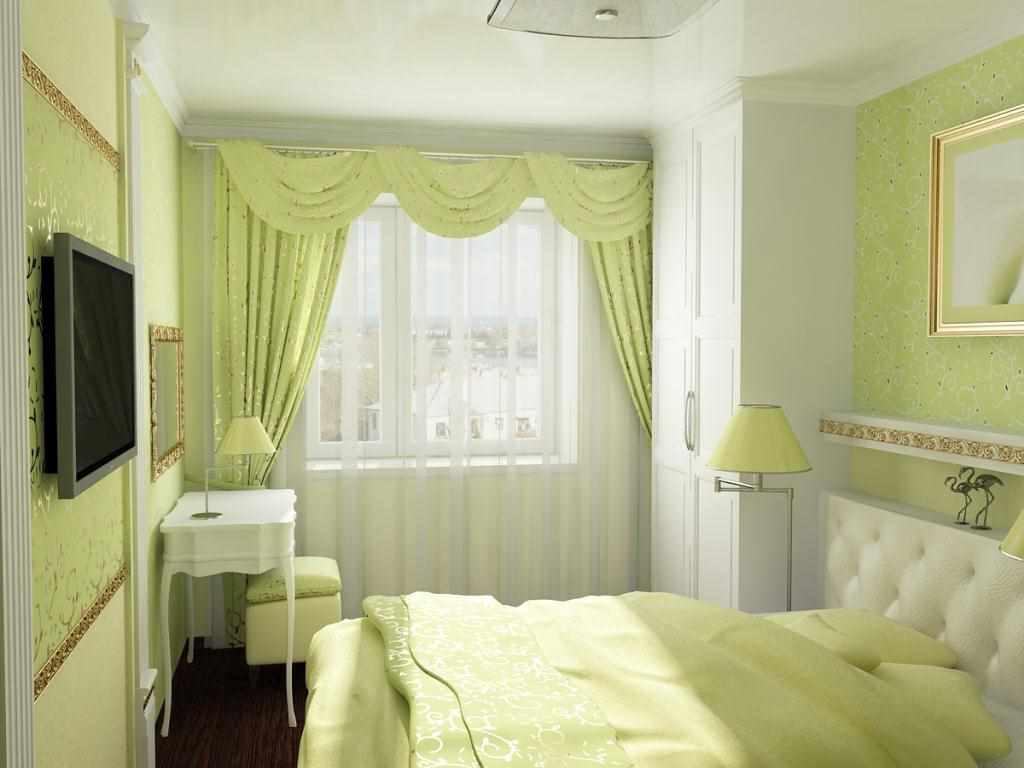 идея яркого дизайна спальной комнаты