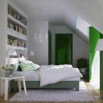 вариант красивого дизайна спальни в мансарде фото