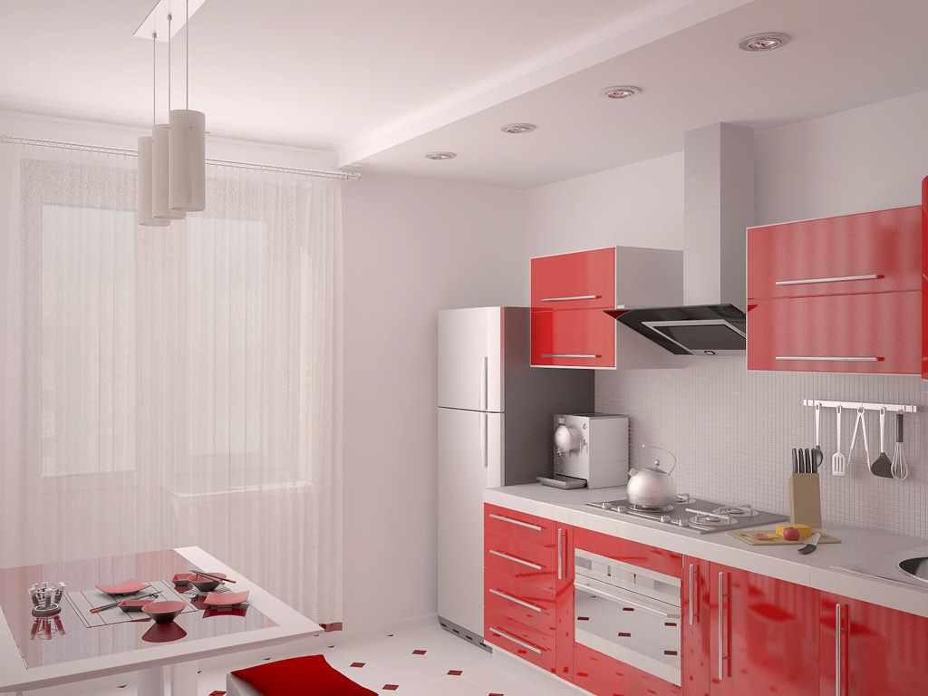 идея красивого стиля красной кухни