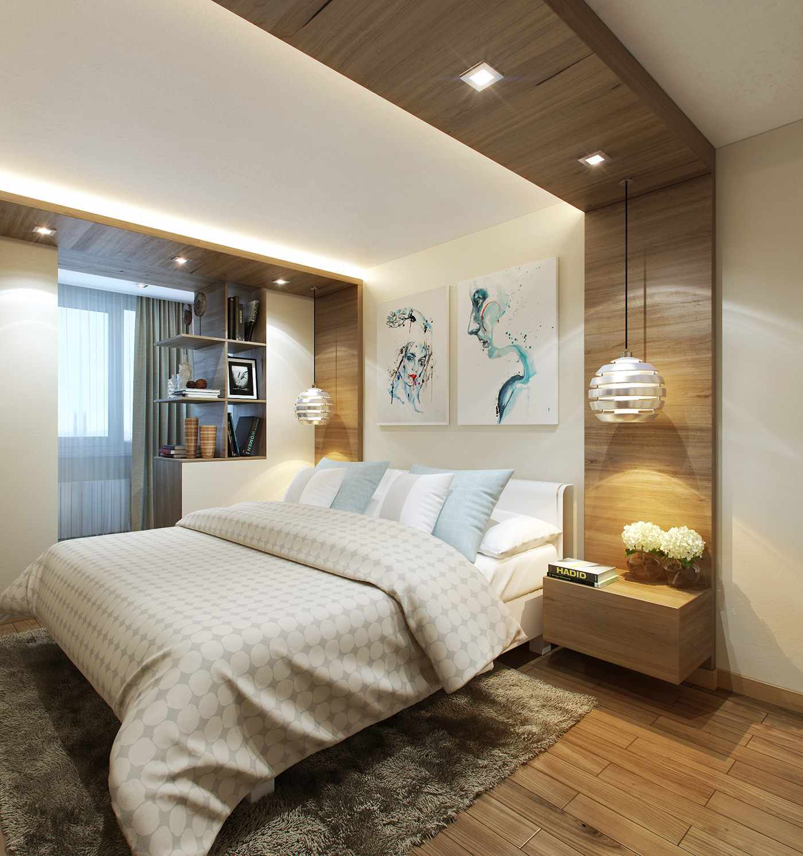 пример светлого декора спальни