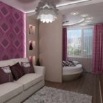 пример необычного интерьера спальной комнаты 15 кв.м фото
