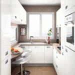 пример красивого дизайна угловой кухни фото